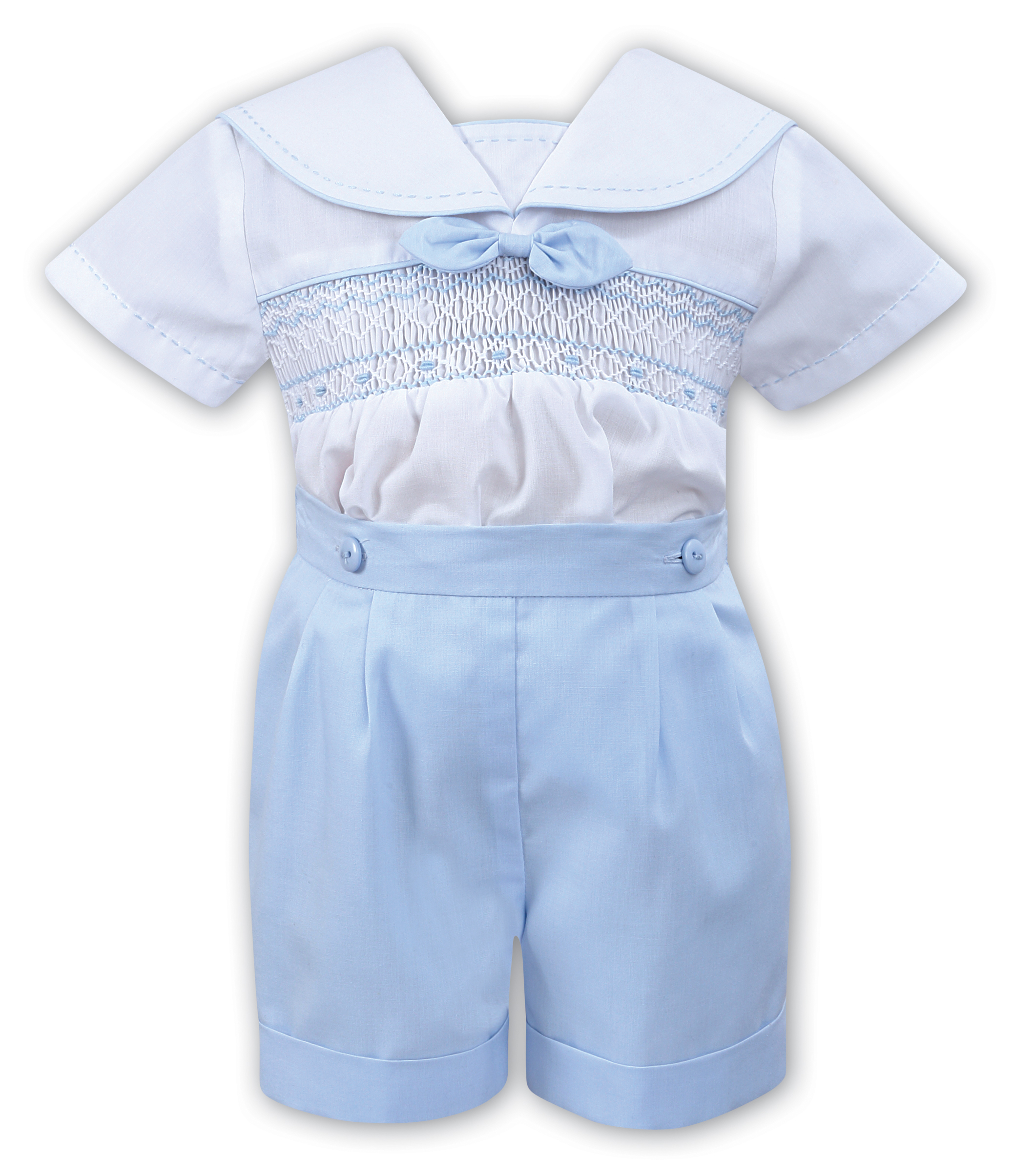 Sarah Louise -a- White/Sky Two Piece 011798
