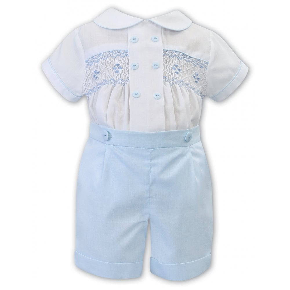 Sarah Louise -a- Sky smocked Romper 011863