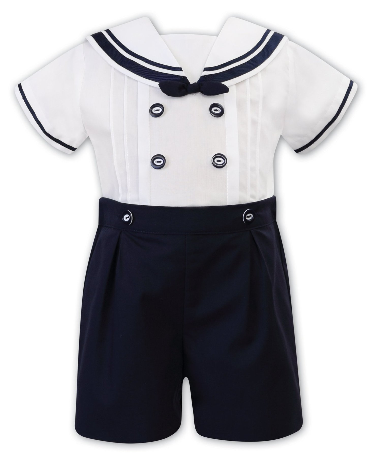 Sarah Louise White/Navy Sailor Two piece 011875