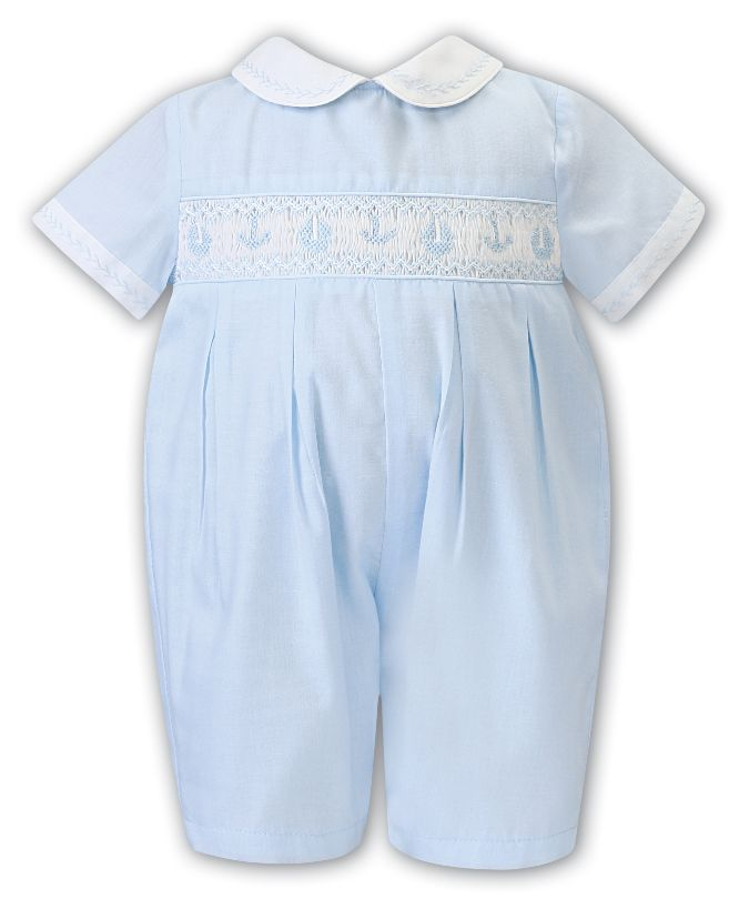 Sarah Louise -a- Sky Boat Smocked Romper 012201