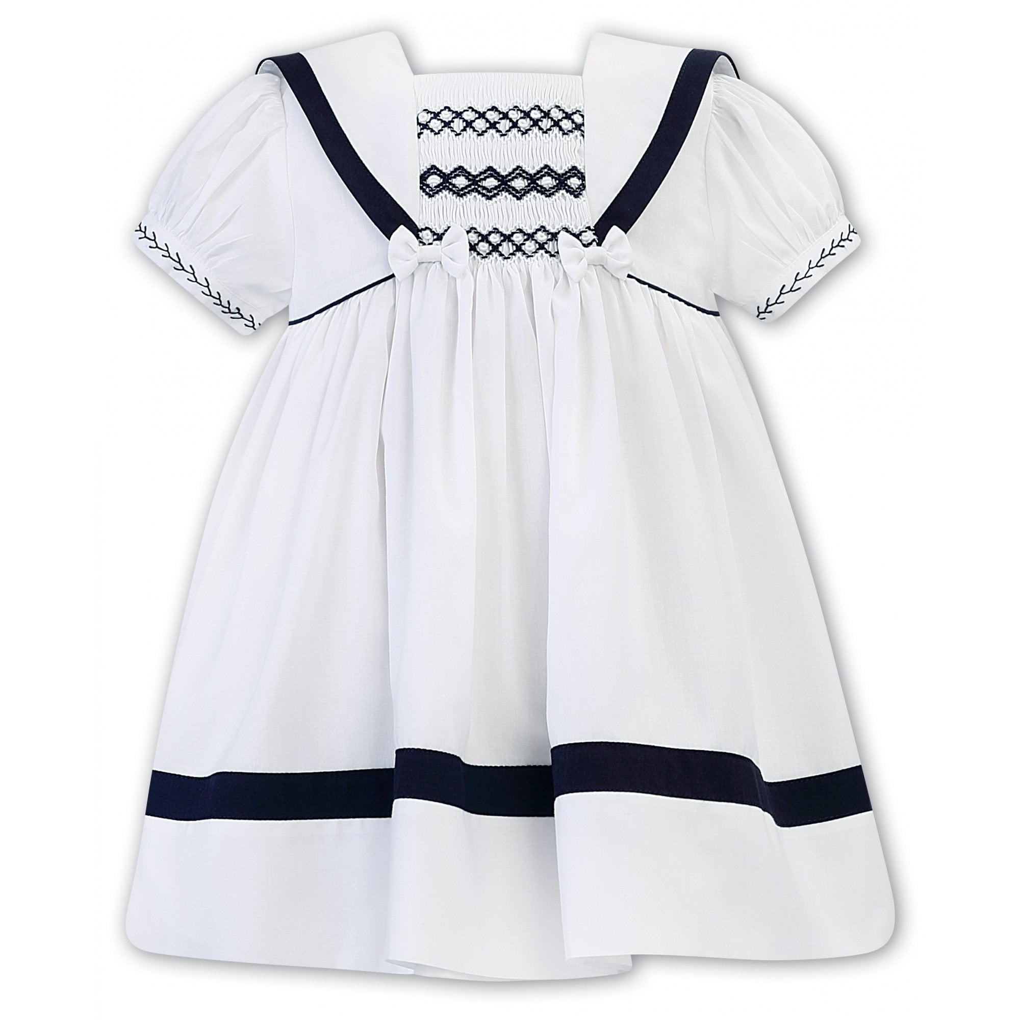 Sarah Louise -a- Sailor Dress Navy/White 012280