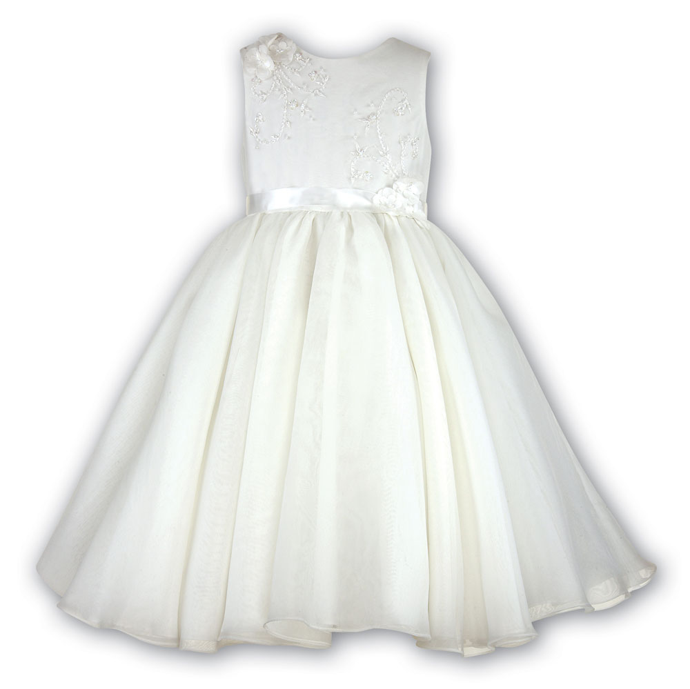 Sarah Louise -a- Flowergirl Dress Ivory 070019G