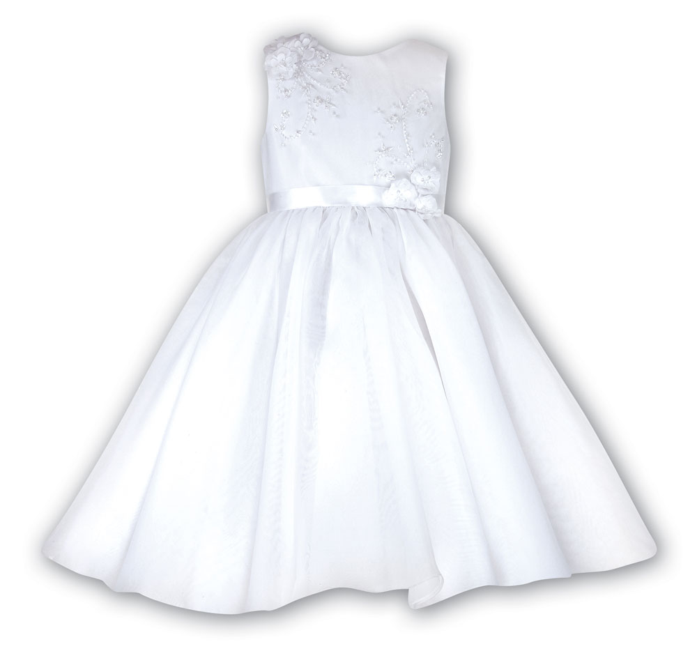 Sarah Louise -a- Flowergirl Dress White 070019G