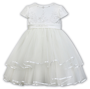 Sarah Louise -a- Flowergirl Ivory Dress 070074