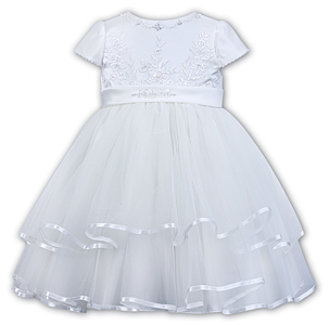 Sarah Louise -a- White Flowergirl Dress 070074