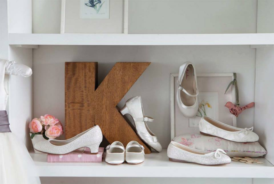 Ivory Flowergirl Shoes