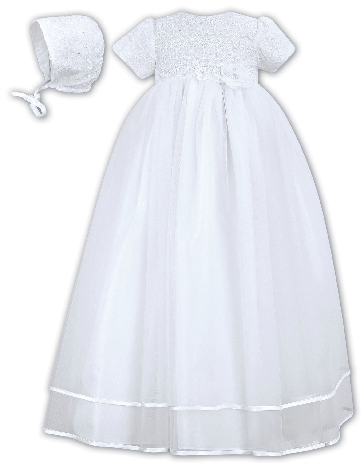 Sarah Louise White Robe/Bonnet 001087