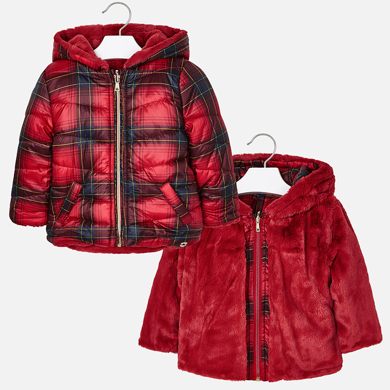 Mayoral Z Tartan reversible jacket 4435