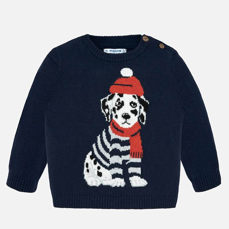 Mayoral -t- Dalmation Navy Jumper 2324
