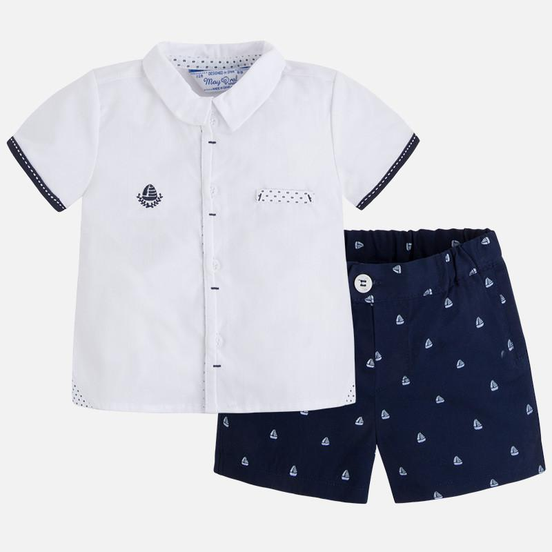 Mayoral Y Navy shorts set 1221
