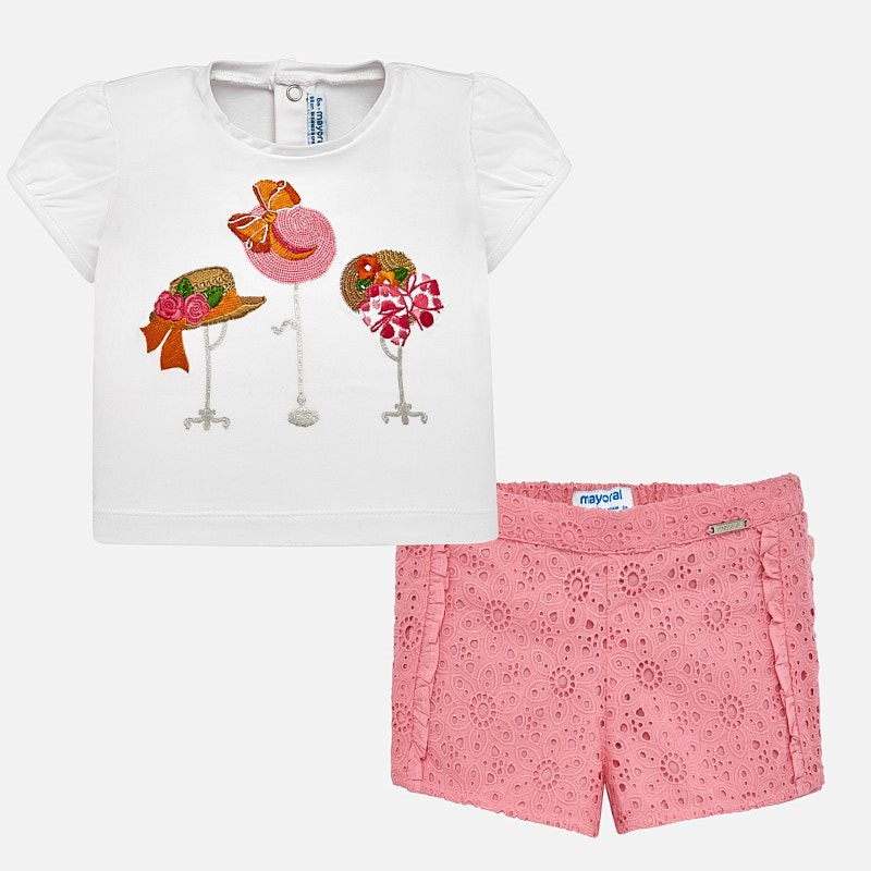 Mayoral A Pink shorts set 01236