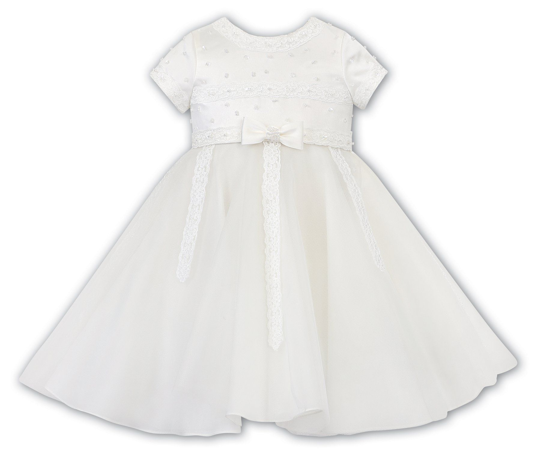 Sarah Louise -a- Flowergirl FG Dress Ivory 070117