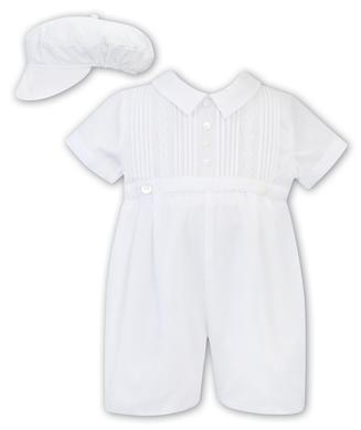Sarah Louise -a- White Romper and Hat C C3003