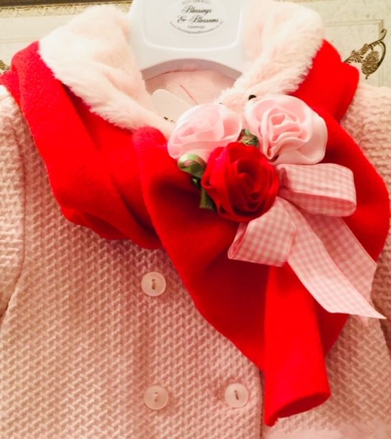 BBs Red/Pink blossom scarf 003