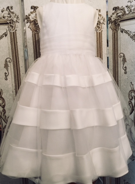 Sarah Louise -b- White Princess flowergirl dress.