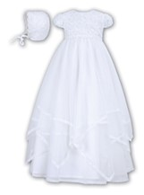 Sarah Louise - Girls Christening Robe & Bonnet.- BB092