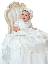 Sarah Louise - Girls Christening Robe & Bonnet.- BB191