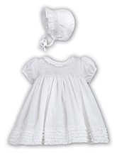 Sarah Louise - Girls Christening or special occasion dress & bonnet BB197Y