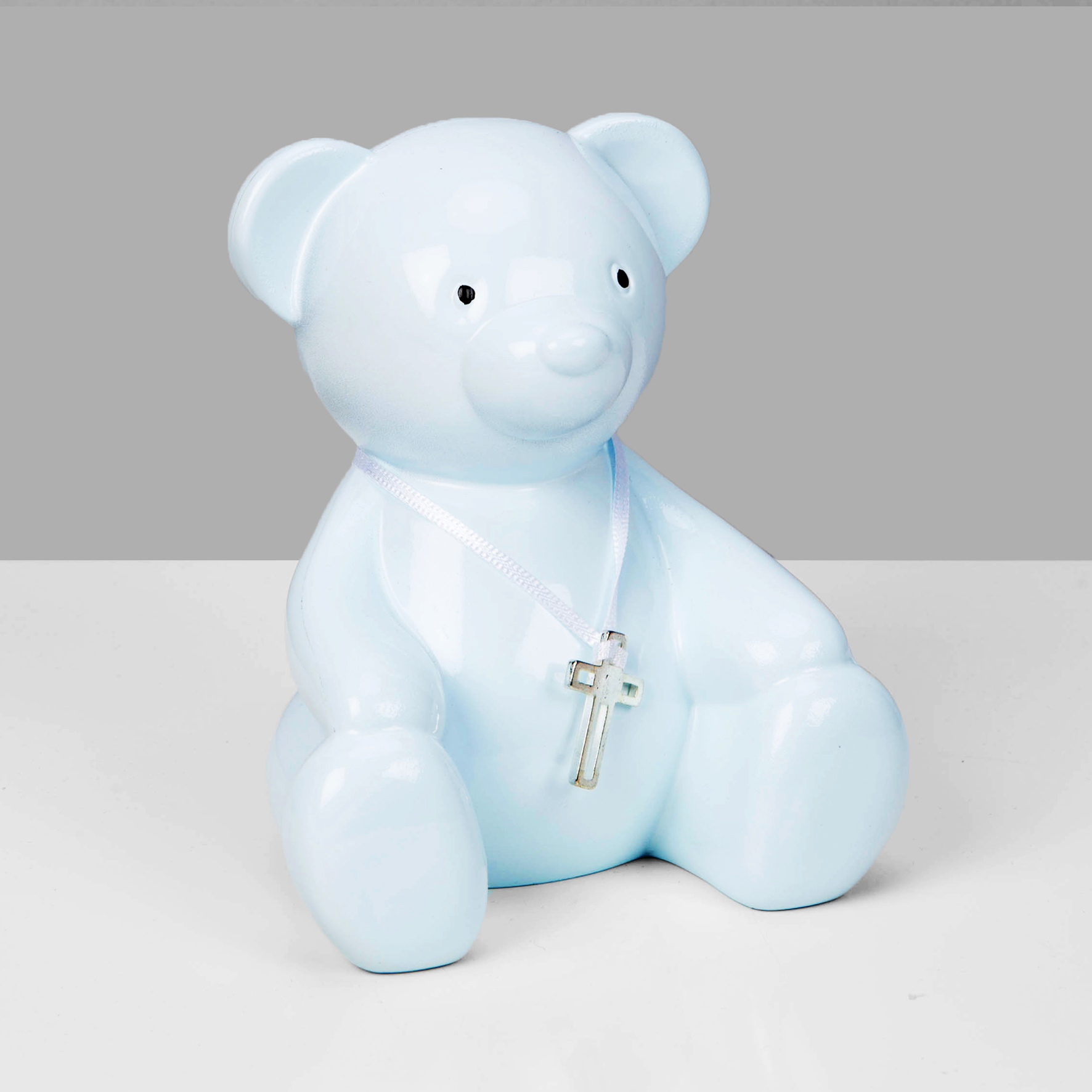 BBs -b- Bambino Blue Metal Teddy Bear Money Box CG1656B