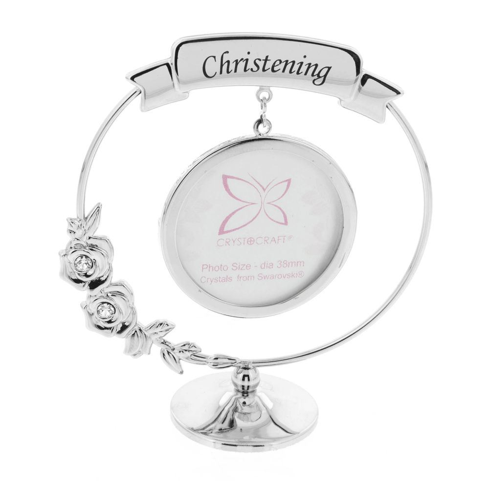 BBs -b- Christening Photo frame with Swarovski crystals SP290