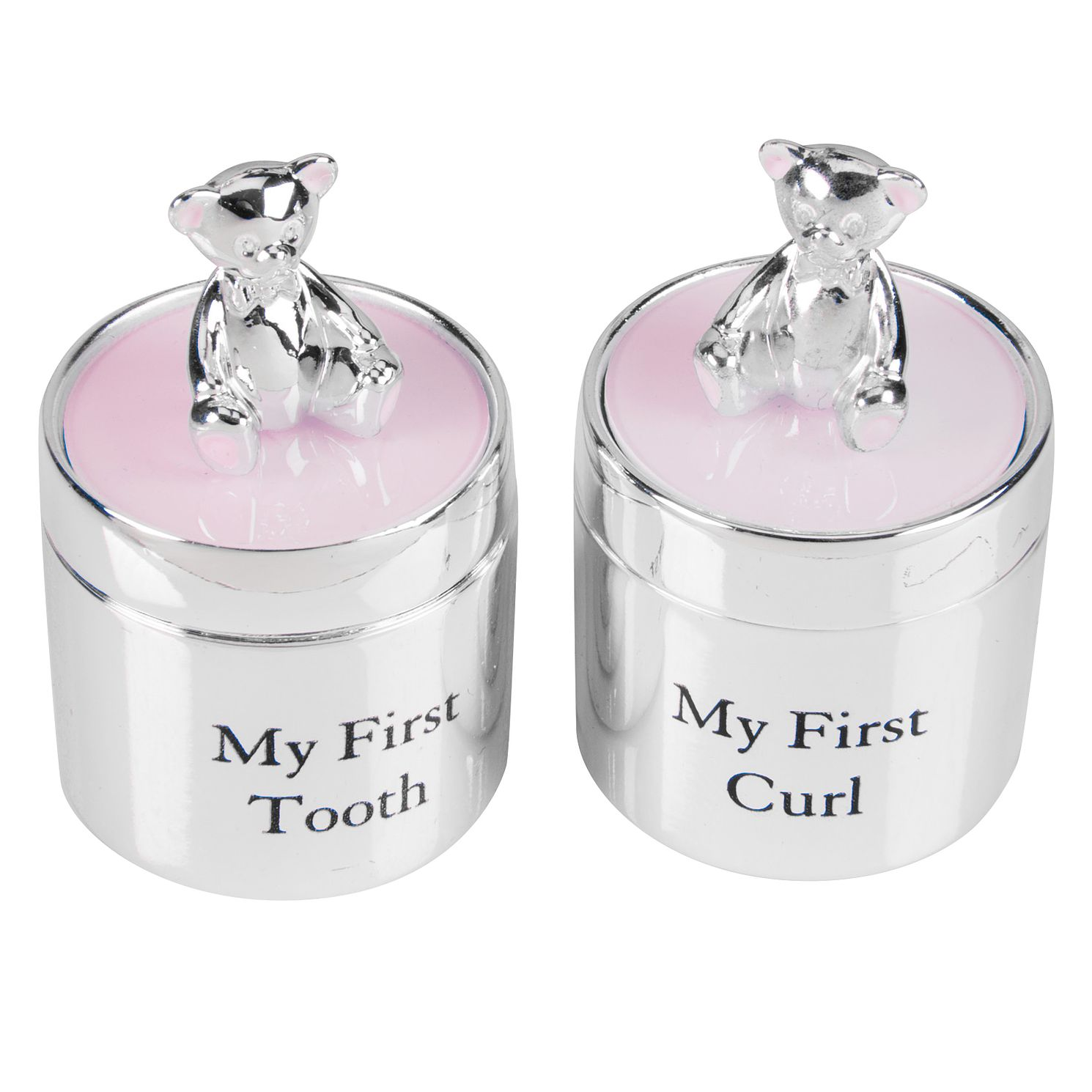 BBs -b- Bambino Silverplated First tooth & curl set Girl CG532P