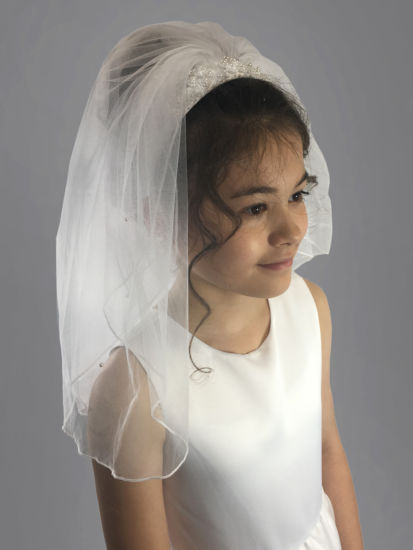 Linzi Jay -a- Veil atatched to Headband LM615