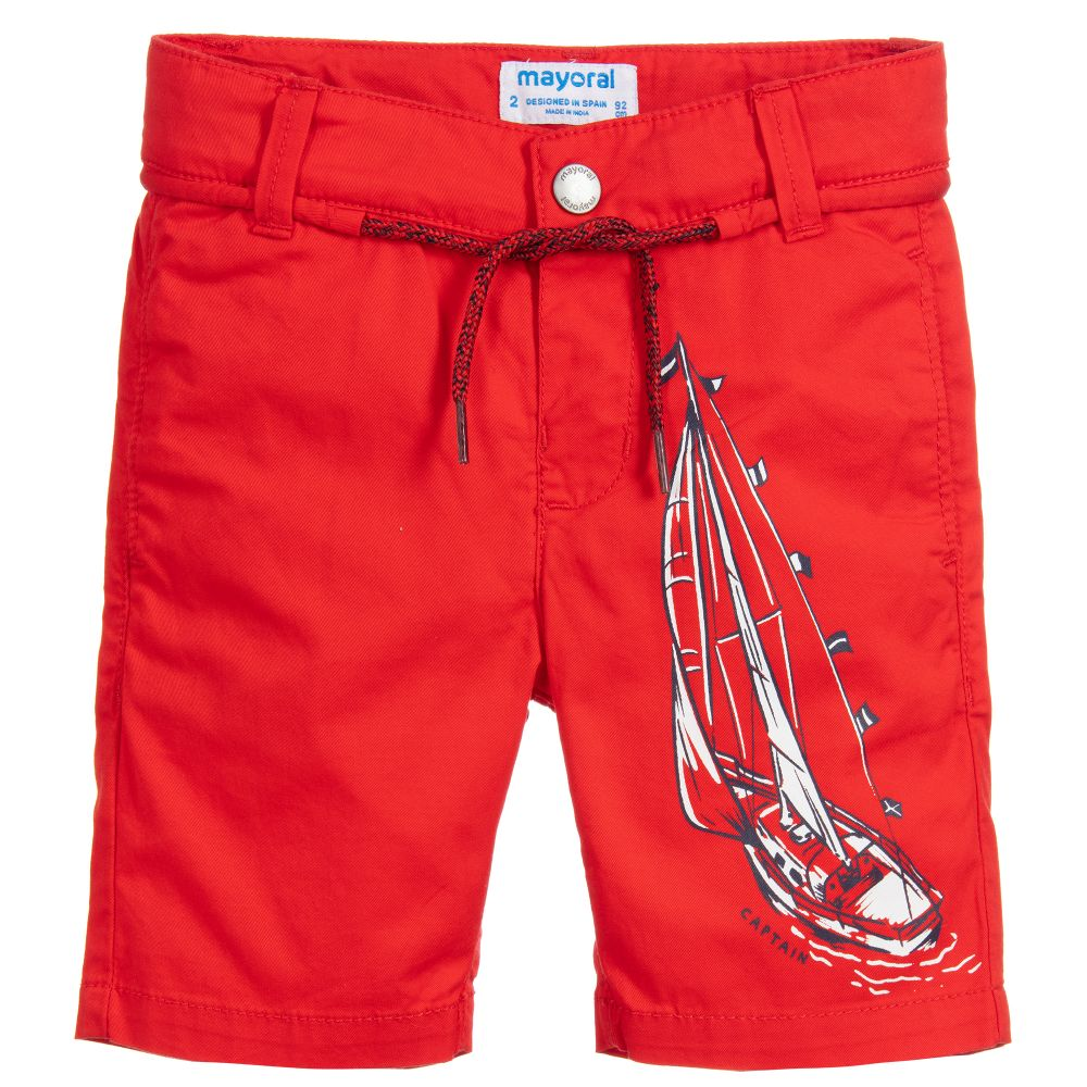 Mayoral Y red Boating shorts