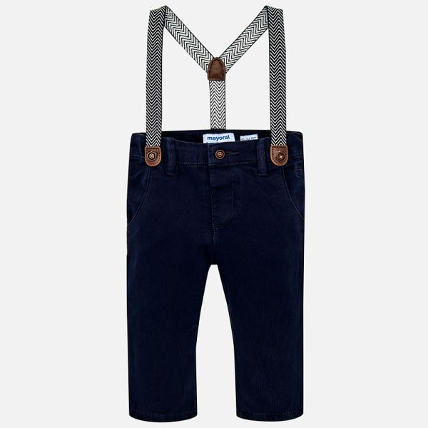 Mayoral -t- Navy Lined Trousers and Braces 2548
