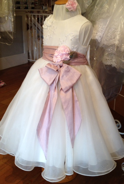 BBs Silk sash and roses