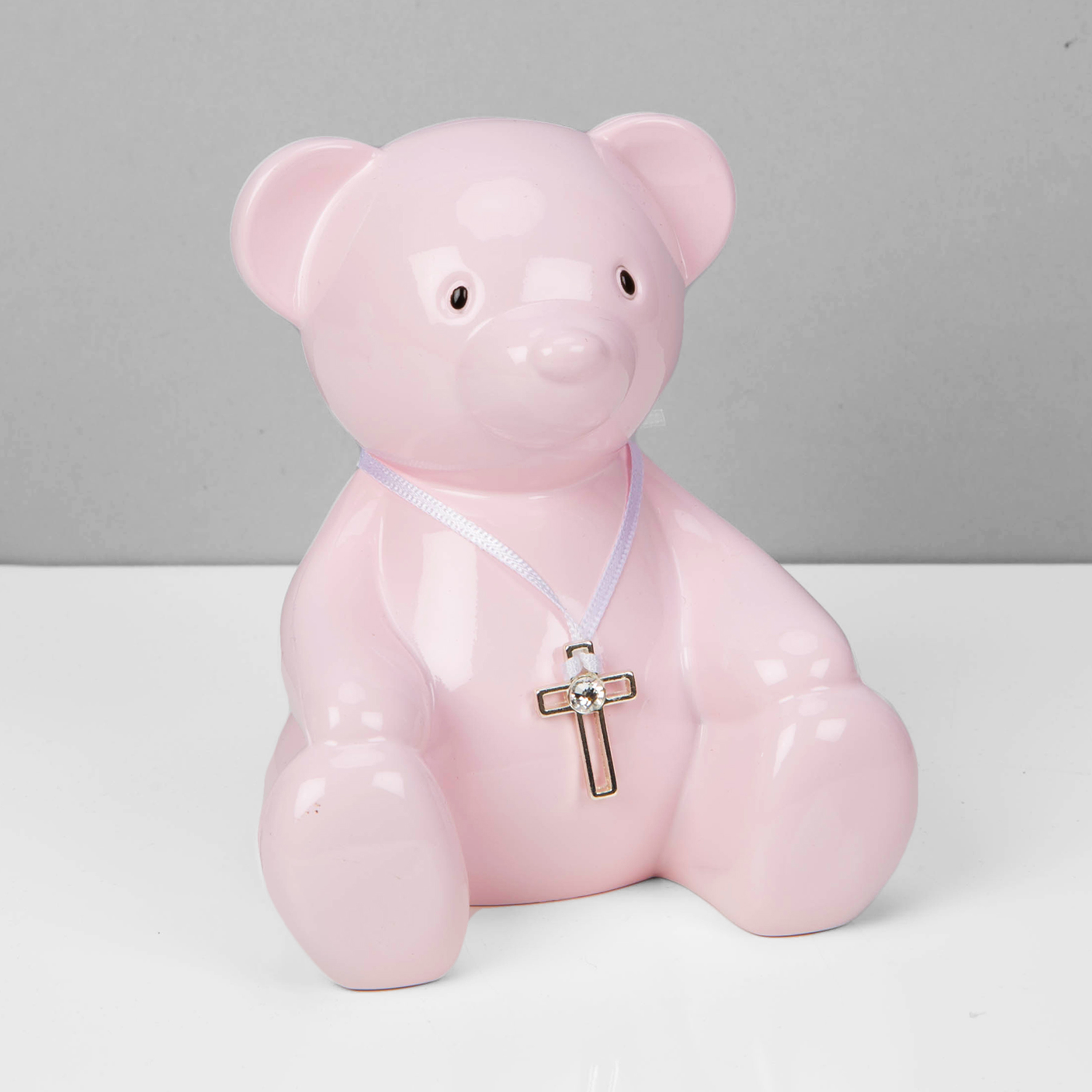 BBs -b- Bambino Pink Metal Teddy Bear Money Box CG1656P