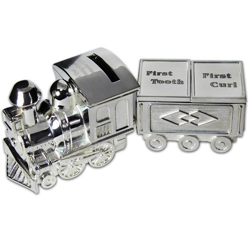 BBs -b- Bambino Silver Plated Train Money Box - First Tooth/First Curl Carriage - CG404