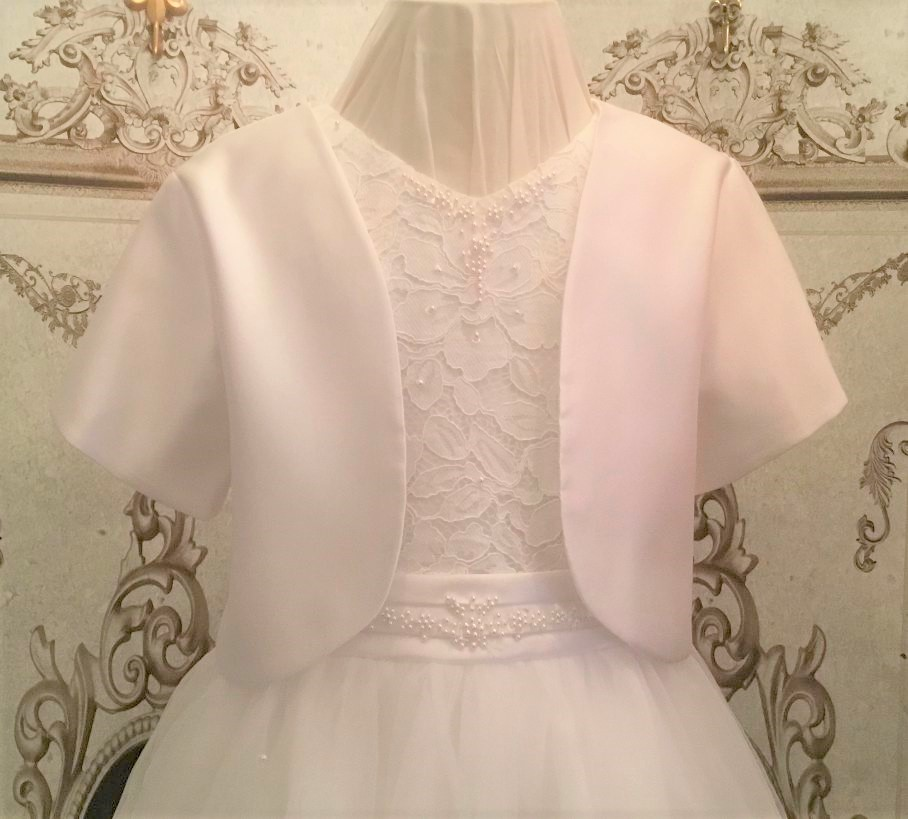 S Little Darlings -e- Communion/Flowergirl Plain Bolero