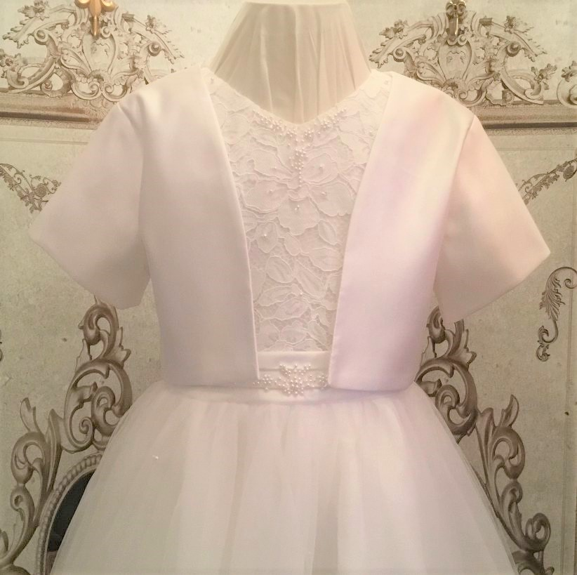 S Little Darlings -e- Communion/Flowergirl Point Bolero